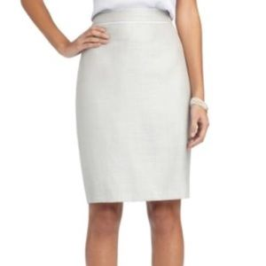 Brooks Brothers Silver Silk Pencil Skirt Size 6